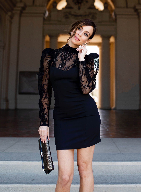 Long Sleeve Little Black Dresses For The Holiday Season Sydne Style Long Sleeve Lace Dress Black Long Sleeve Dress Long Black Dress [ 2284 x 1680 Pixel ]
