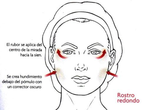 maquillaje para un rostro redondo