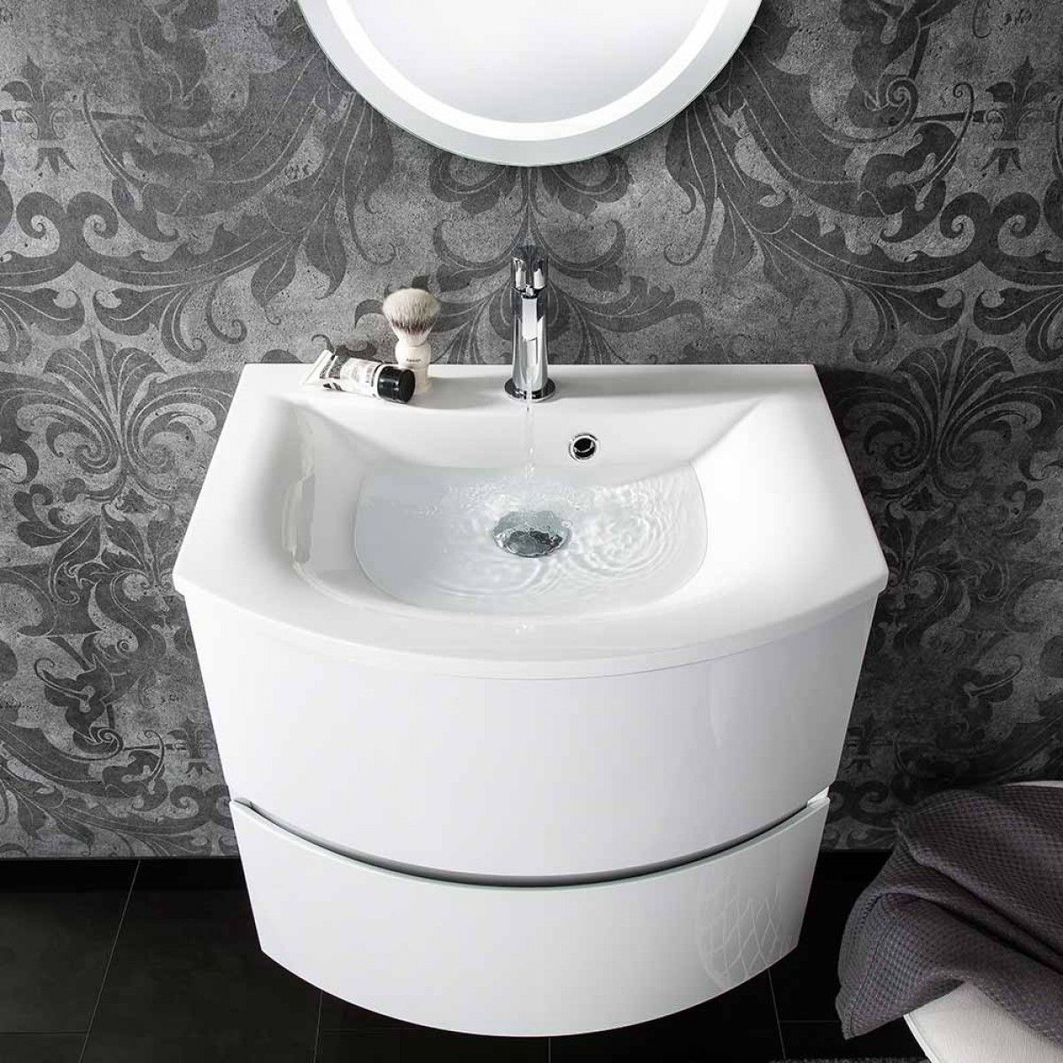 Crosswater Svelte 60 Wall Mounted Vanity Unit with Basin