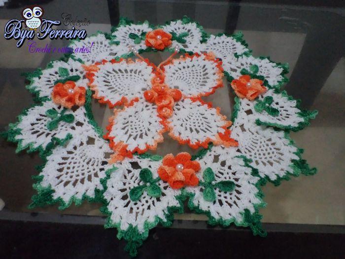 centro de mesa em croche | crochet | Pinterest