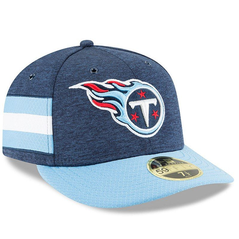 buy online 72b08 86628 Tennessee Titans New Era 2018 NFL Sideline Home Official Low Profile  59FIFTY Fitted Hat – Navy Light Blue