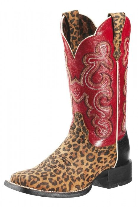 Ariat Leopard Print Cowboy Boots | Leopard print boots, Dr. who ...