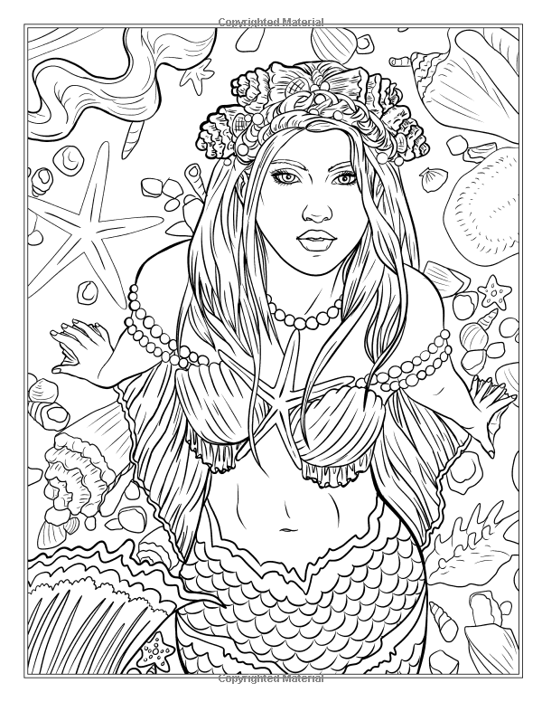mythical mermaids fantasy adult coloring book fantasy coloring by selina volume 8 - Fantasy Coloring Books For Adults