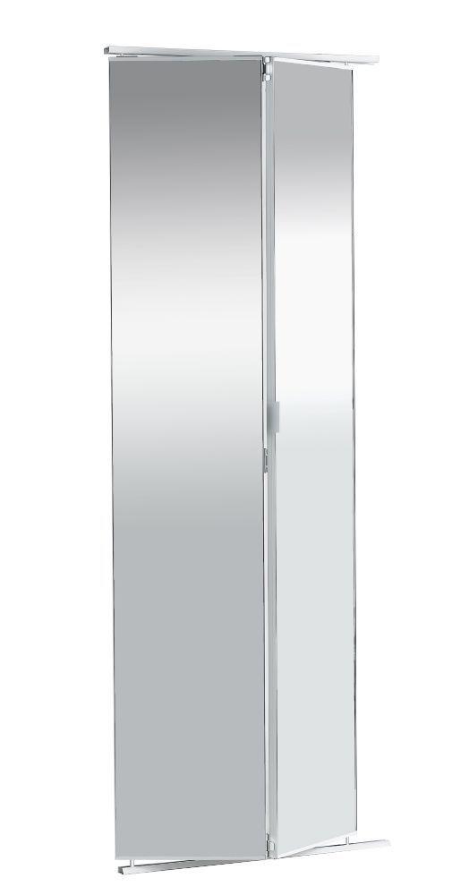36 Inch Frameless Mirrored Bifold Door Doors Mirror