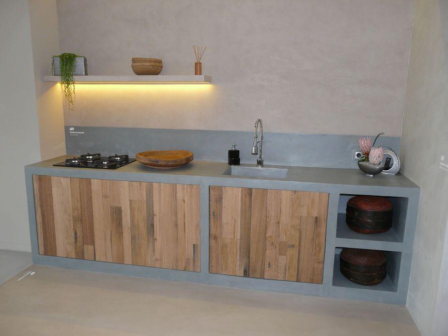 cocina de cemento cocina pequea cemento pulido imagenes cocinas cocina estudio providencia fregaderos encimeras cenador