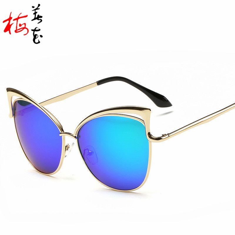 Aliexpress.com : Buy Big Frame Cat Eye Sunglasses Women Round Sun ...