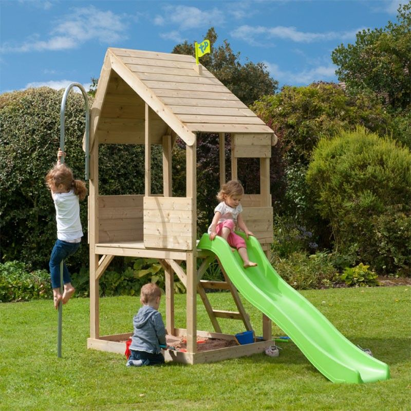 TP FOREST CHALET with SLIDE - ONLY £259 - TP321S - Outdoor Play ...
