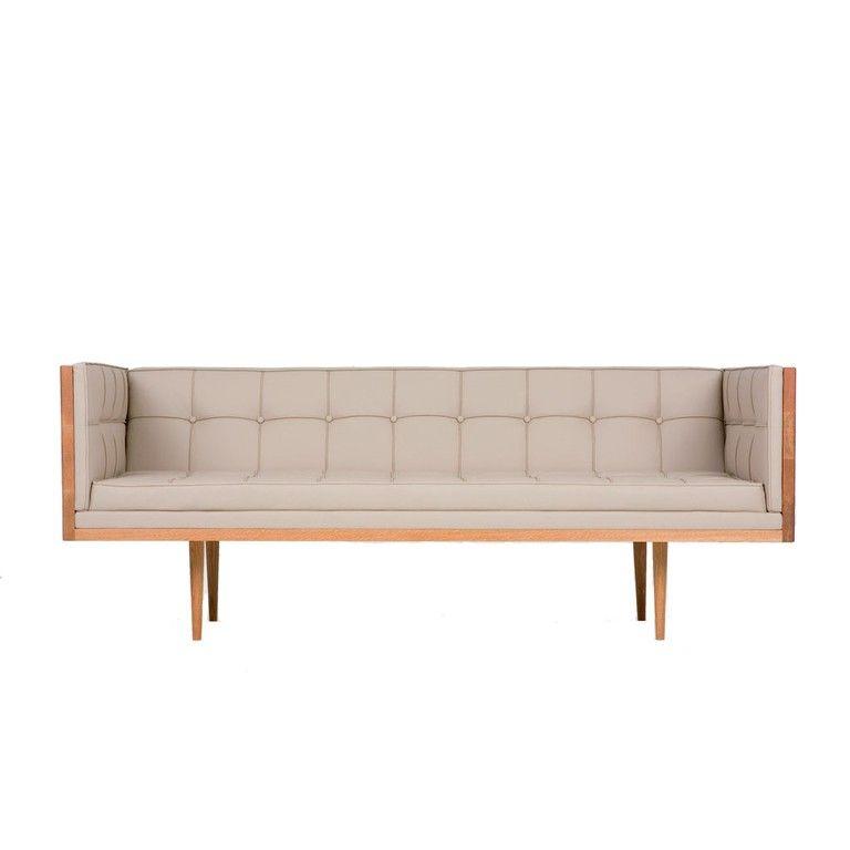 Autoban Box Sofa W180 X D80 X H70 Cm Price In Euro 5059 Material Oak Or Walnut With Leather Or Fabric Uphol Living Room Sofa Design Sofa Furniture Sofa Design