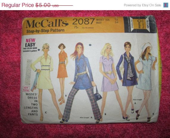 On Sale 1960's McCall's Sewing Pattern 2087 Size by EarthToMarrs, $4.00