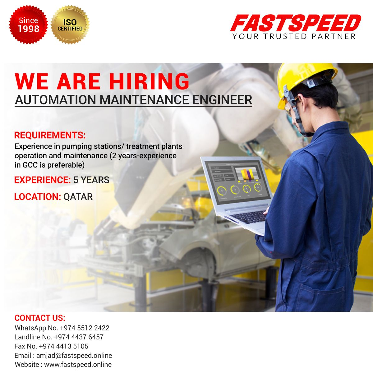 We are now recruiting automation maintenance engineers at