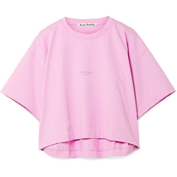 Shirt 190 T Printed Acne Studios Cylea Cotton Cropped YwnSzqA
