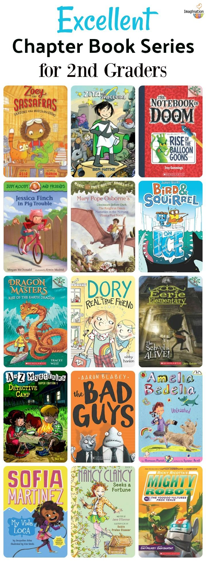 18 Fantastic Chapter Book Series for 2nd Graders | Pinterest | Book ...