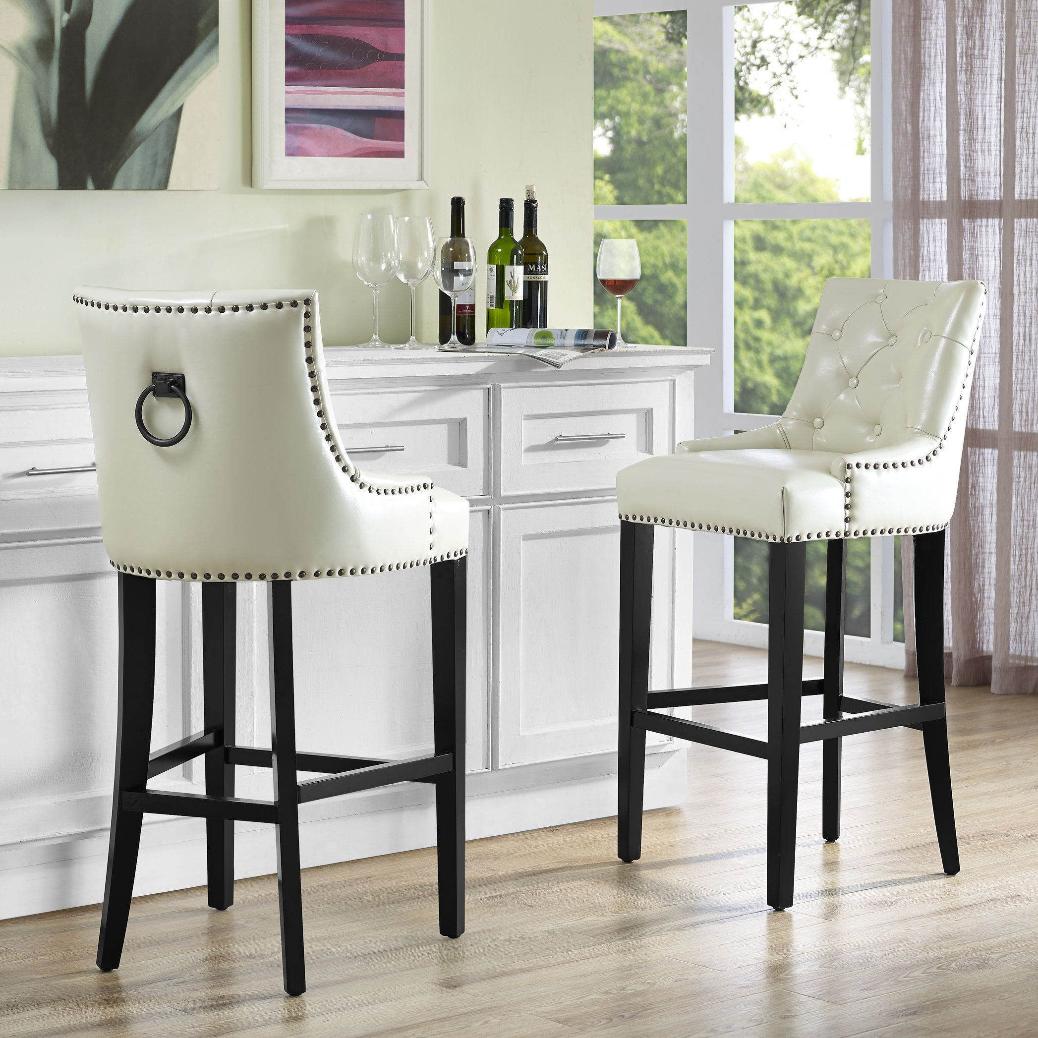 Image Result For Nail Head Swivel Counter High Bar Stools