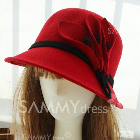 $13.14 Chic Calla Lily Embellished Colored Hat For Winter For Women
