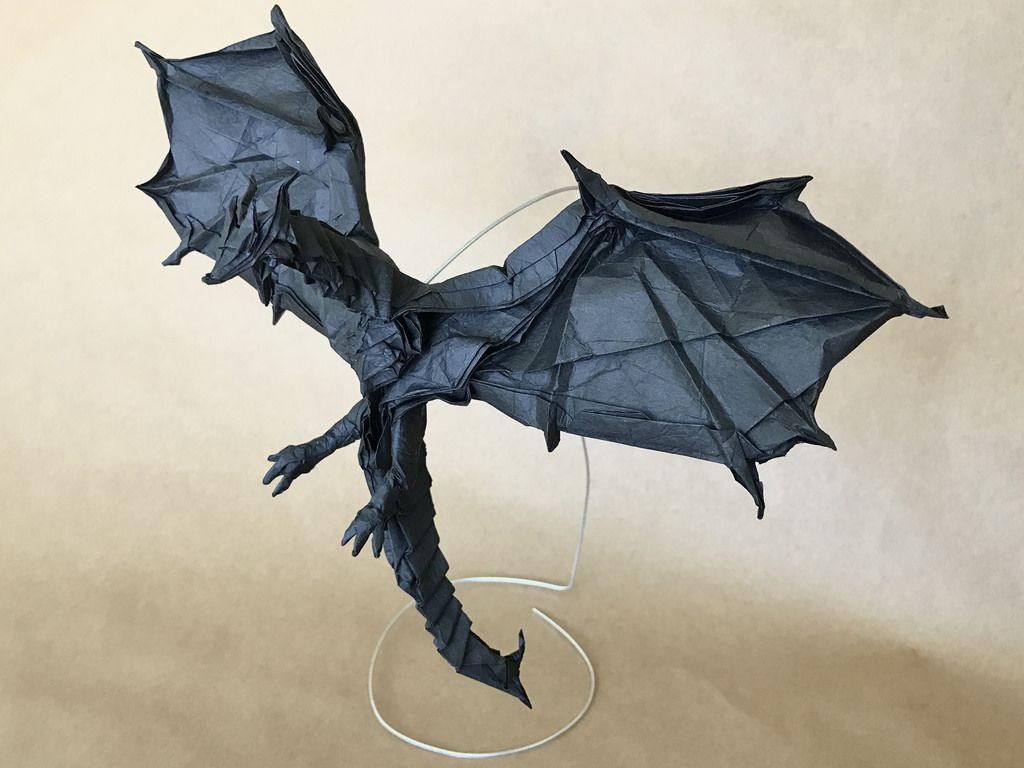 Origami Alduin World Eater Designed By Kamiya Satoshi Folded By Me