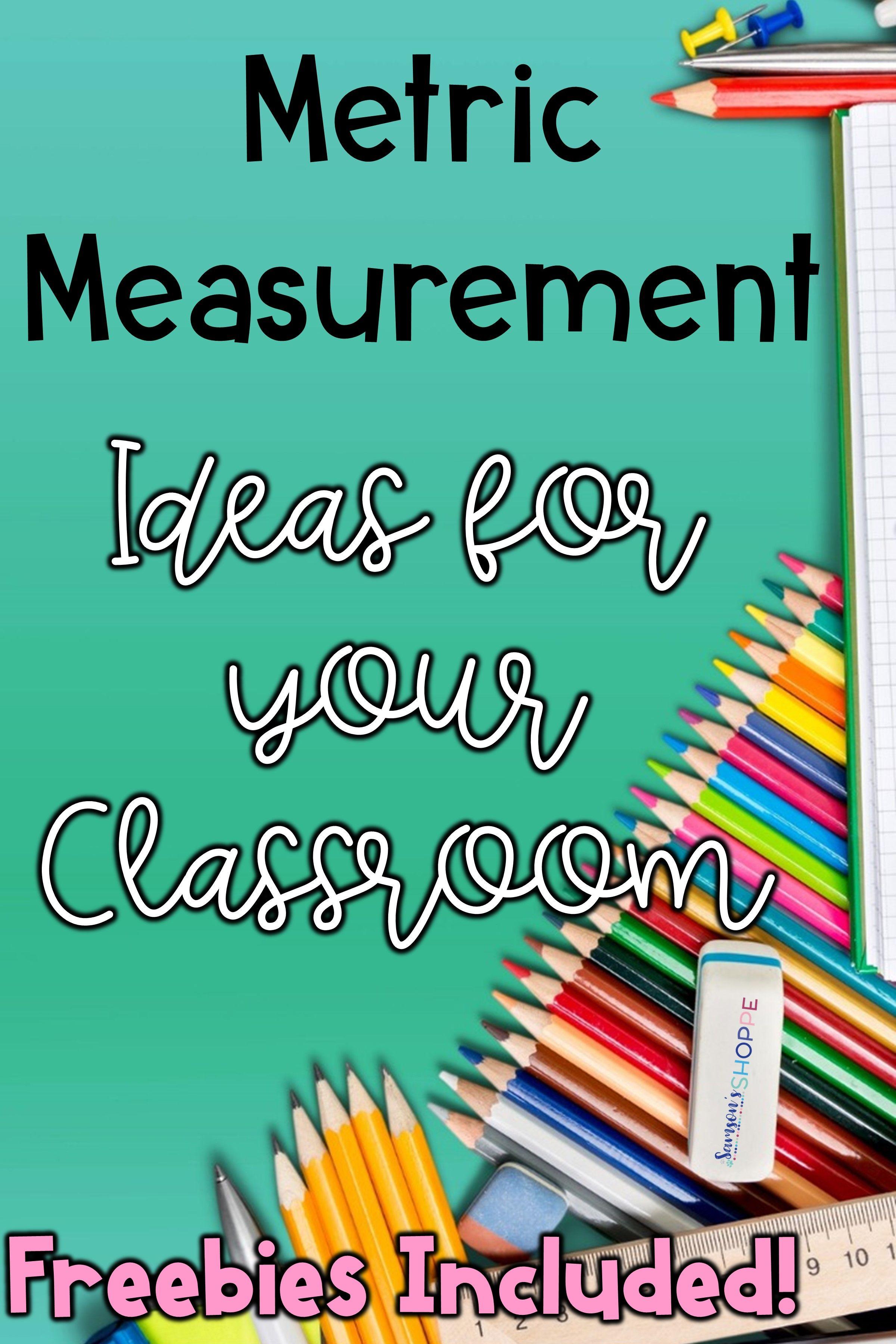Metric Measurement Activities For Your Science Classroom