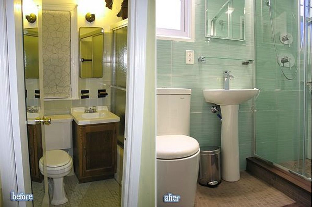 Bathroom, Cozy Minimalist Small Bathroom Makeover Before After: Get New  Small Bathroom Look With