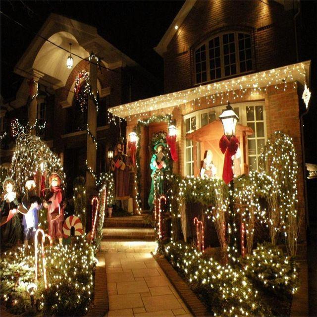 21 M 200 Led Solar Powered Impermeable de Hadas Luz de la Secuencia 8 Modos de Iluminación de La Lámpara de vacaciones para Halloween Party Festival de Navidad
