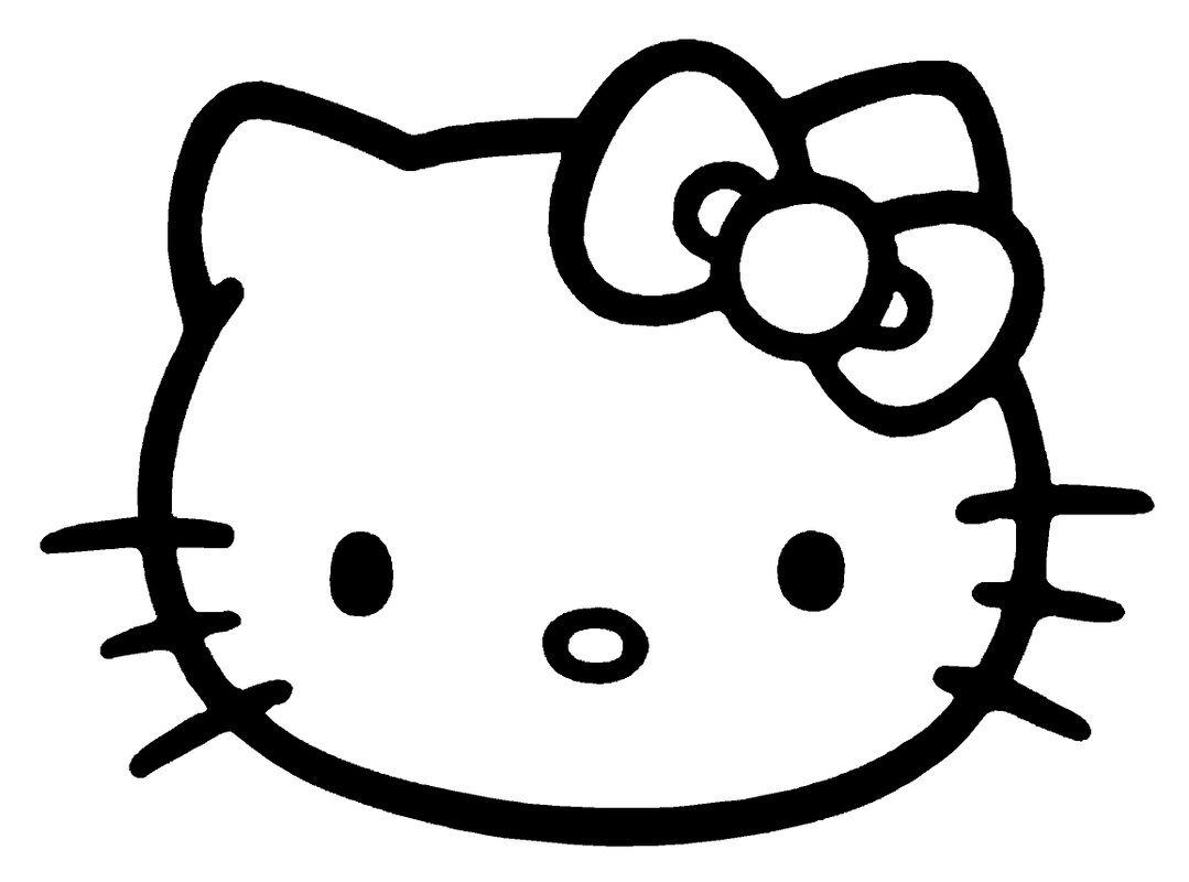 Hello Kitty Face  Hello kitty coloring, Kitty coloring, Hello