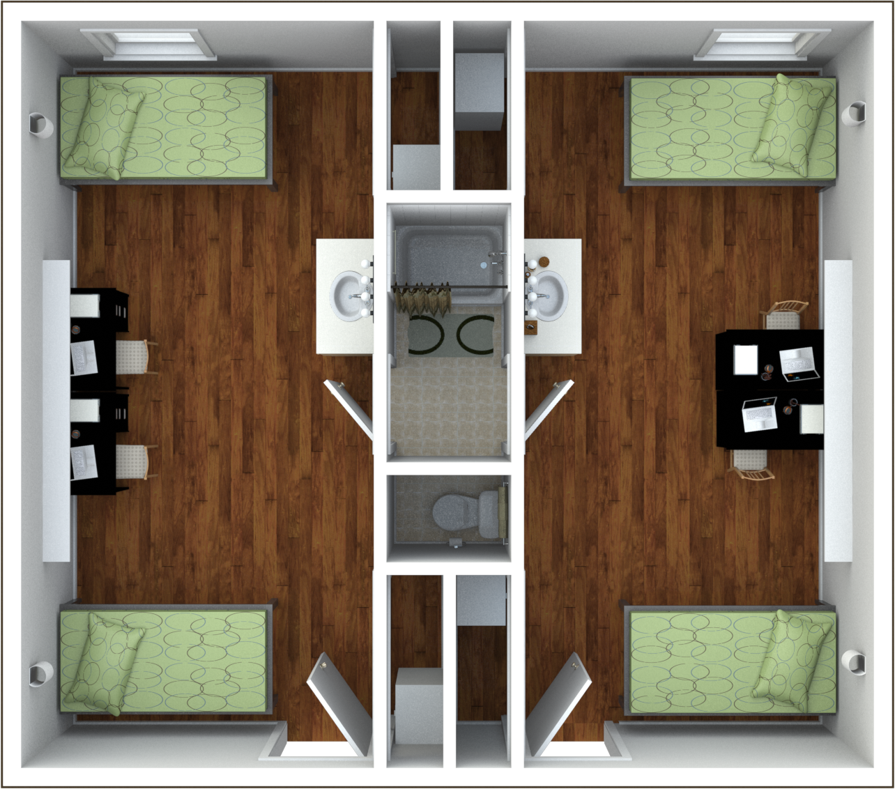 Check Out This Great Student Housing Floor Plan At Granville Towers In Chapel  Hill, NC