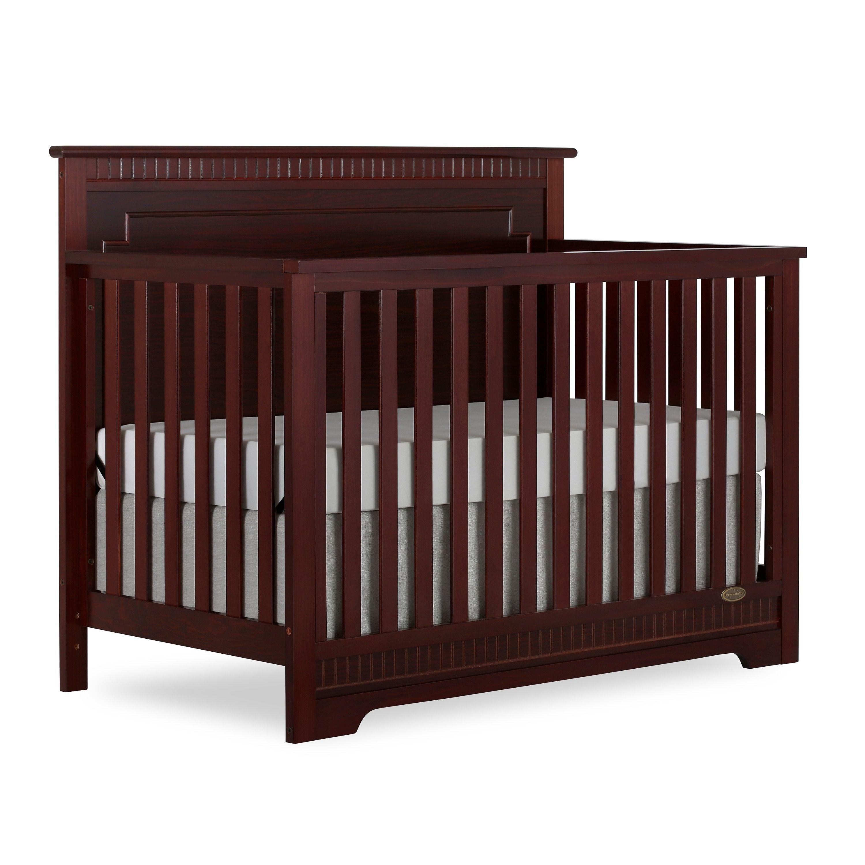 Dream On Me Morgan Espresso (Brown) 5 In 1 Convertible Crib