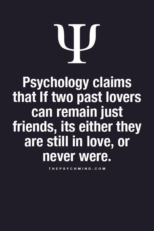 If Two Ex Lovers Remain Friends Quote