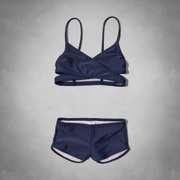 2d504e3ae4087 wrap style two-piece swimsuit from Abercrombie Kids