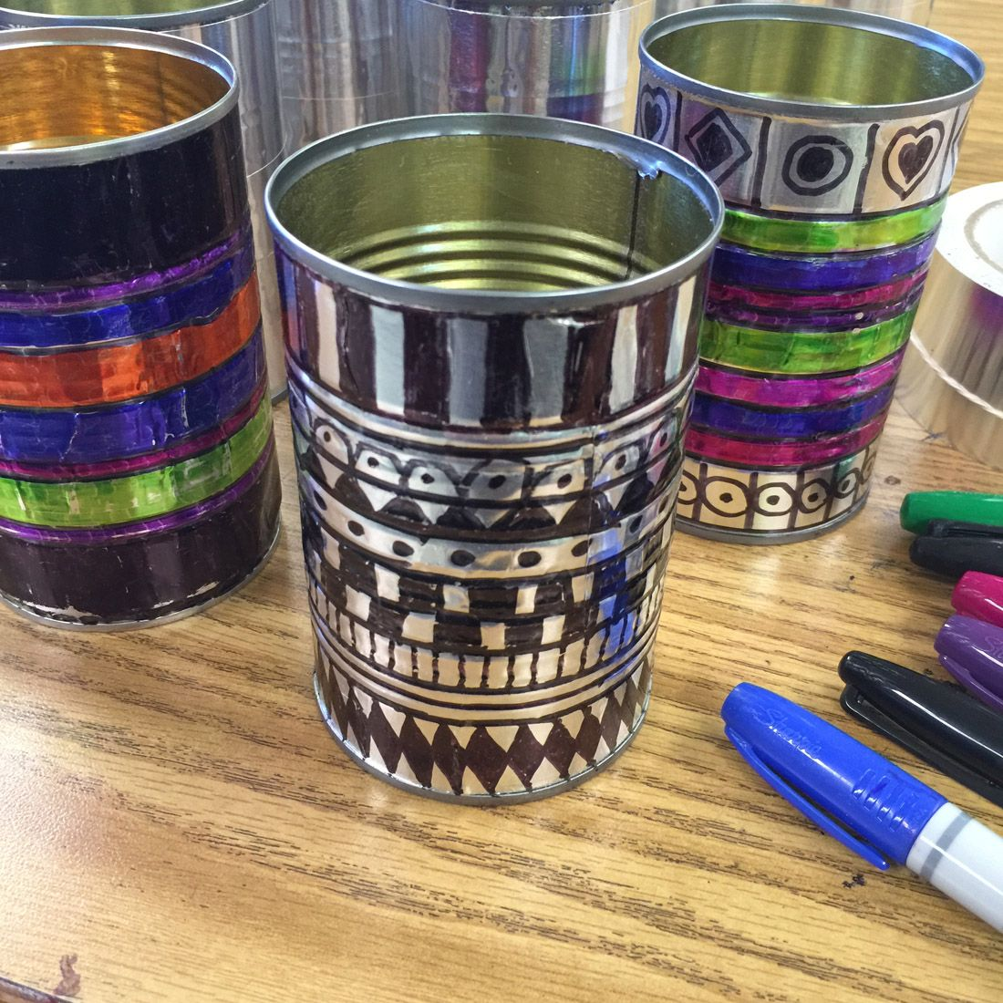 Sharpies and tin cans sharpies recycling projects and for Tin projects