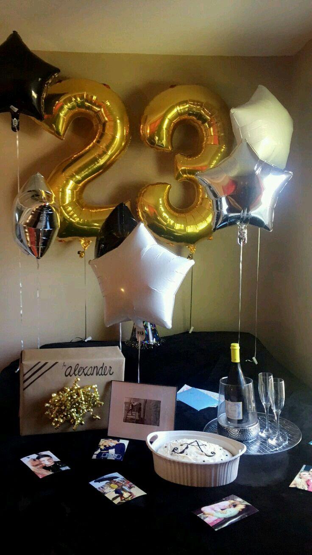 Pinterest//Rollody Sorpresa cumpleaños novio, Fiesta