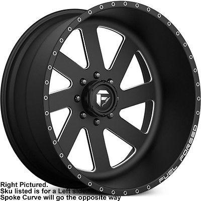 24x14 Black Milled Fuel Forged Ff02 6x5 5 76 Wheels 40x15 5x24