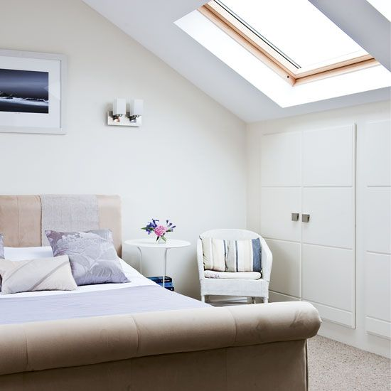 A Light And Airy Bedroom With Wardrobes In The Eaves Room Idea Photo Gallery