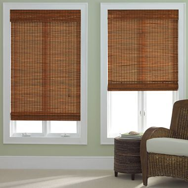 Jcp Home Bamboo Woven Wood Shade In Pecan Or Oak Jcpenney