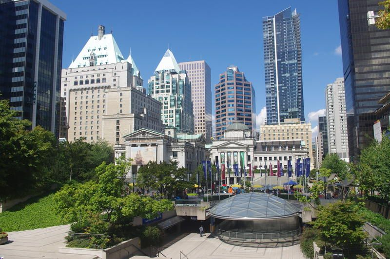 Robson Square Ubc Robson Square In Downtown Vancouver British