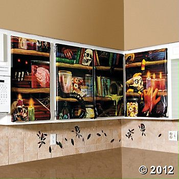 Halloween Creepy Kitchen Decorations, Backdrops  Scene Setters-6 - halloween scene setters decorations