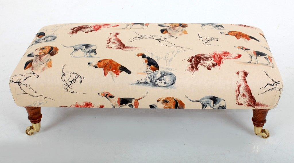 Hound Footstool These Made To Order Footstools Are Covered In A