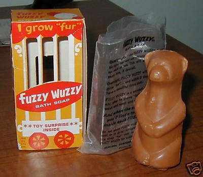 FUZZY WUZZY SOAP BROWN BEAR NMIB LOOK!! | #42708202