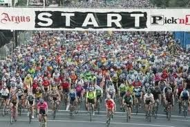 The Cape Argus Cycle tour - the biggest cycle race in the world - 35 000 participants