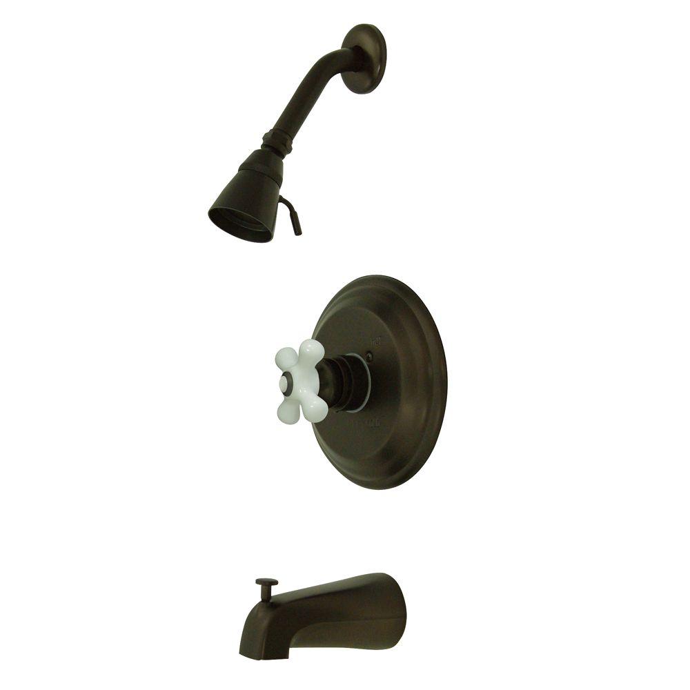 Kingston Brass KB3635PX Restoration Tub & Shower Faucet, Oil Rubbed ...