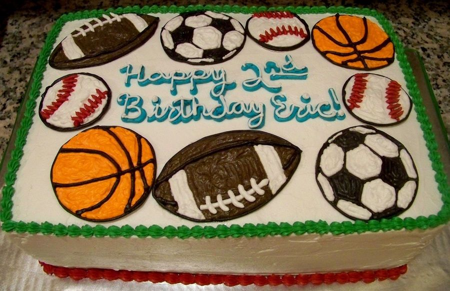 Peachy Sports Ball Birthday Cake With Images Sports Birthday Cakes Birthday Cards Printable Benkemecafe Filternl