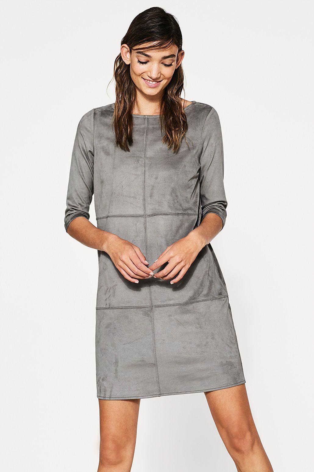 af5a4786 Esprit - Kjole i blødt velourlook | AW 18/19 QR | Dresses, Fashion ...