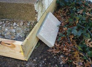 How do you repair concrete steps?