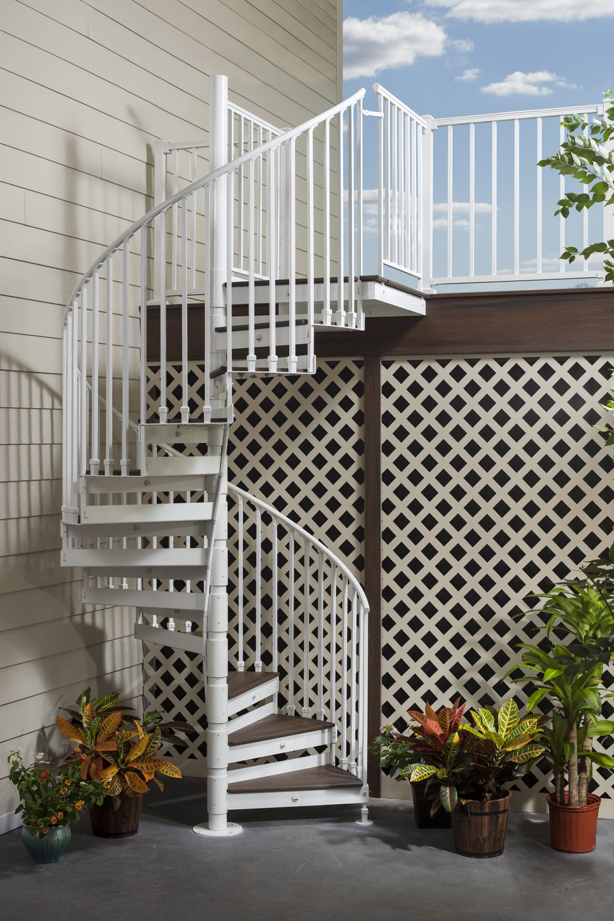 Best Short On Space Adding Trex Spiral Stairs To Your Deck 400 x 300