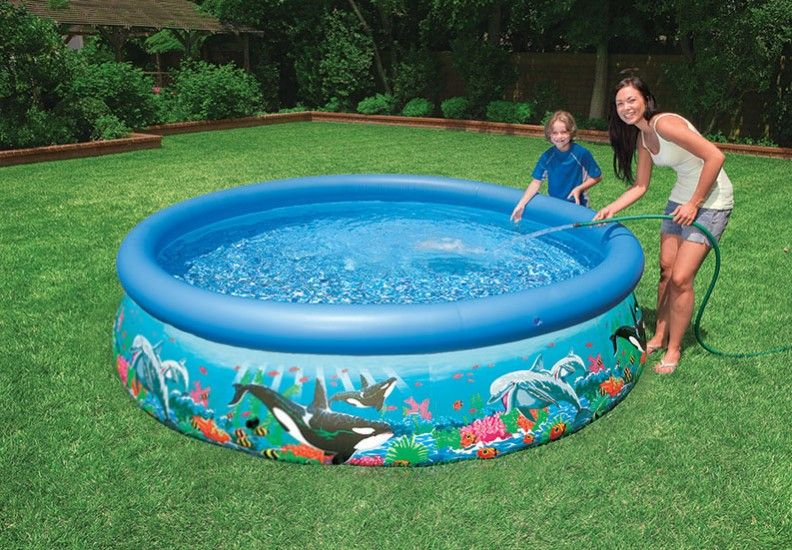 how to clean above ground pool liner