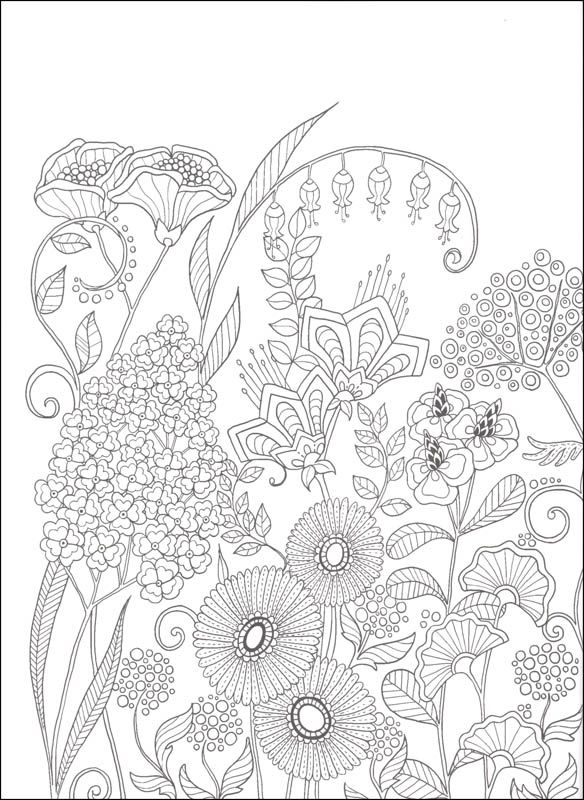 Pin de Ame Martin en Flowers coloring | Pinterest