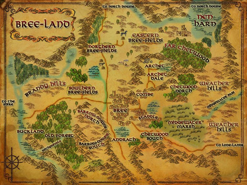 LOTRO map of Bree land | Lord of the Rings Online in 2019 | Lord