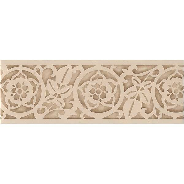Carved leaves classic border stencil stenciling leaves for Classic border design