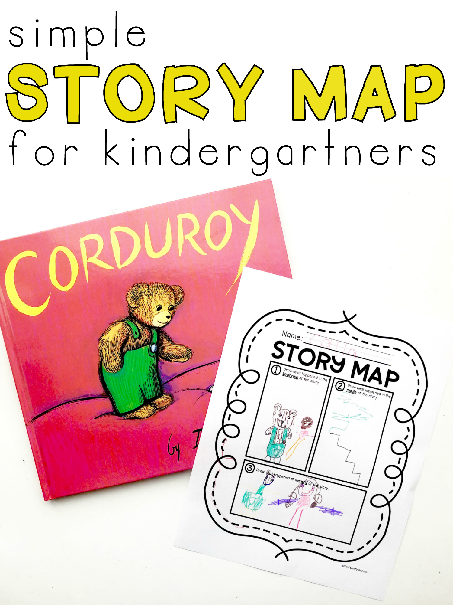 Simple Story Map Printable For Kindergartners