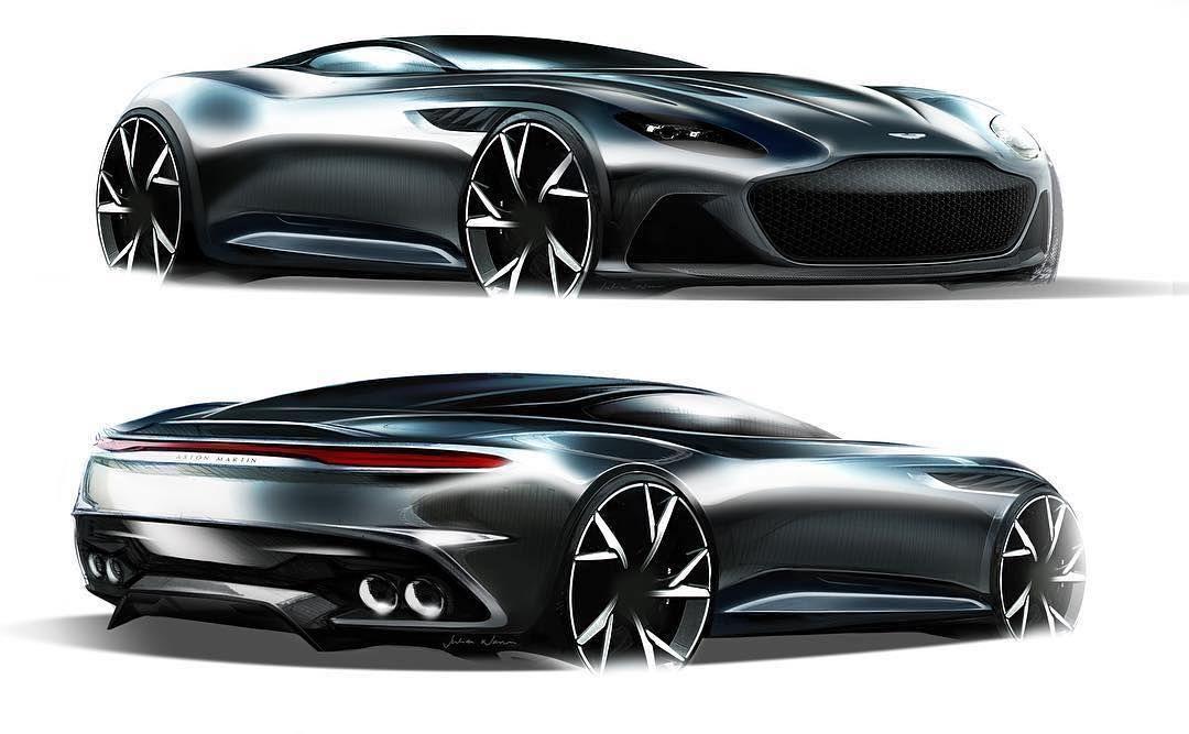 Car Design World On Instagram Aston Martin Dbs Superleggera Official Sketches By Julian Nunn Jthenunn Cardesign Car Design Carsketch Sketch Astonmarti