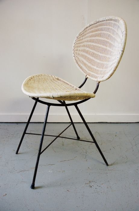 In stock. White lloyd loom style chair. Two available. | Sillas y ...