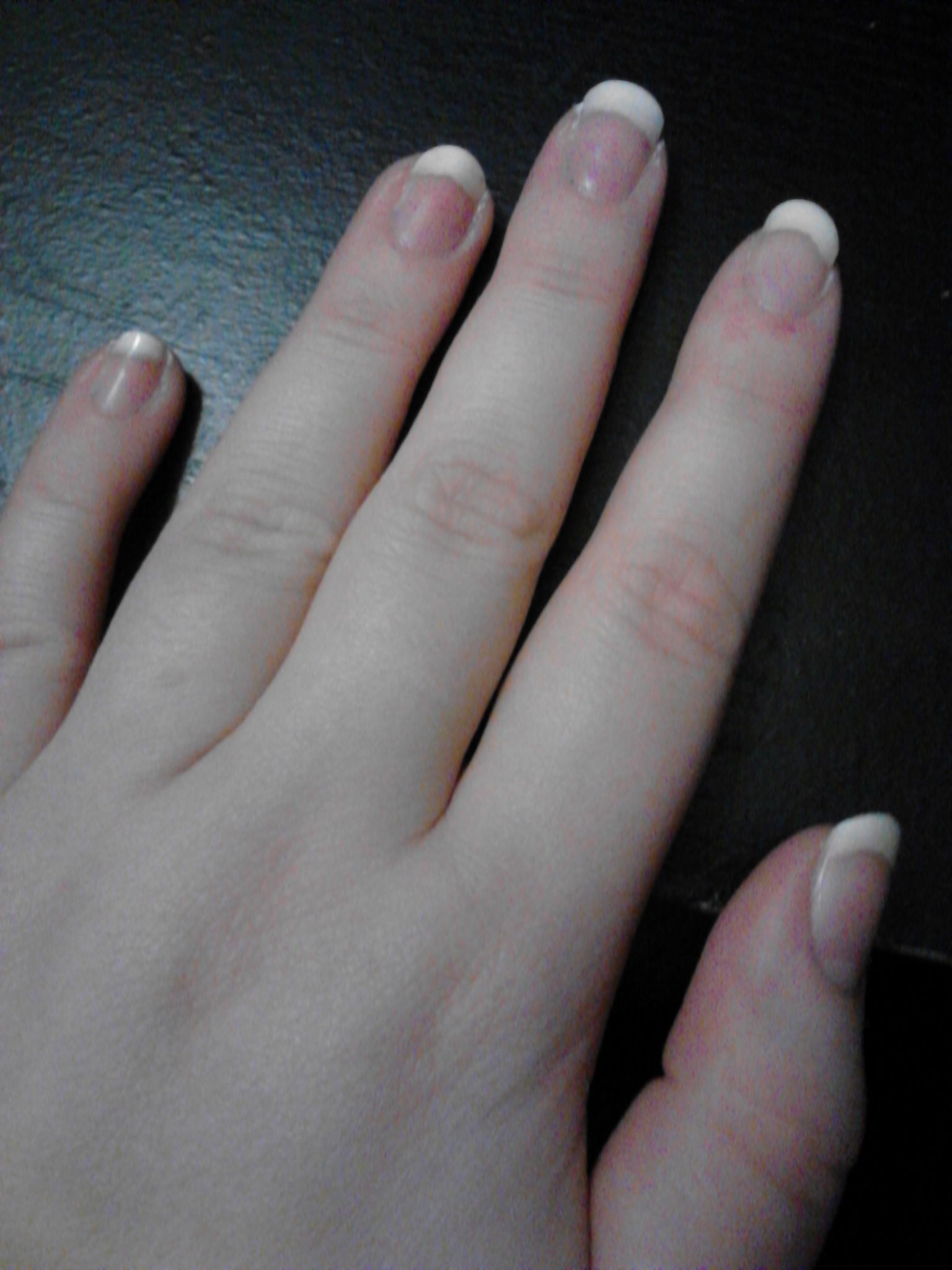 My nails were very brittle and transparent, so I found a way to make ...